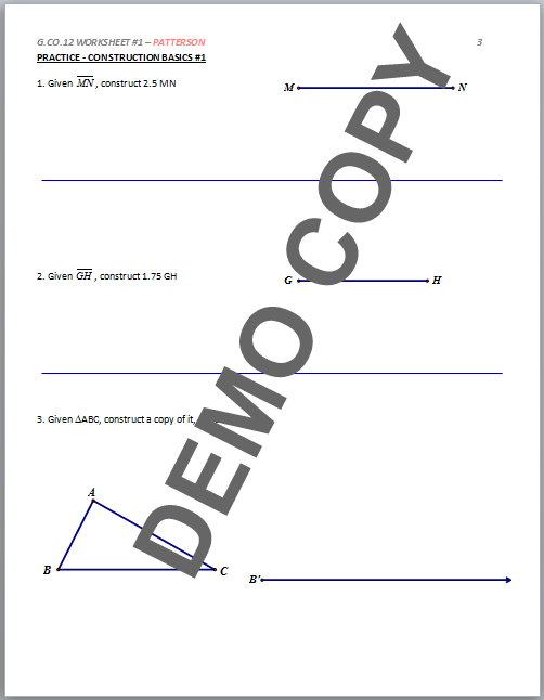 Printables of G Co 12 Worksheet 1 Patterson Answers
