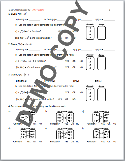 G Co 2 Worksheet 1 Patterson Answers Kidz Activities. High School Geometry Mon Core G Co A 2 Functions Isometries. Worksheet. Geometry G Rotations Worksheet 1 Answers At Mspartners.co