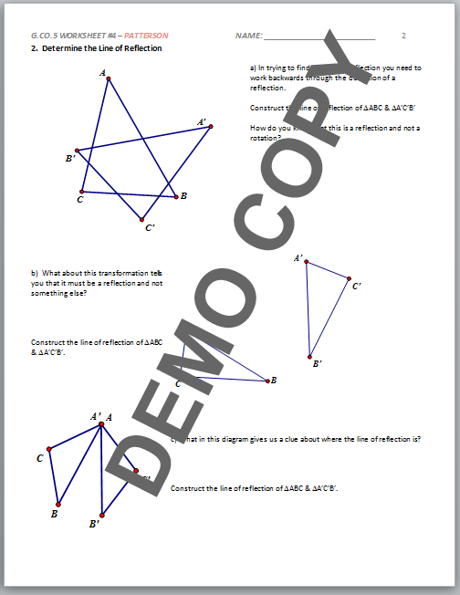 All Worksheets Composite Transformation Geometry Worksheets – High School Geometry Worksheet