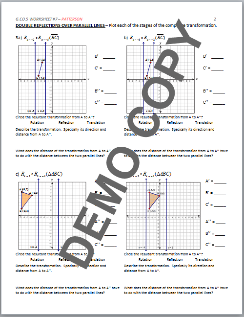 Geometry G Reflections Worksheet 1 Answers Kidz Activities. High School Geometry Mon Core G Co A 5 Sequences Of Rotations Worksheet 1 Answers. Worksheet. Geometry G Rotations Worksheet 1 Answers At Mspartners.co