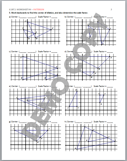 dilation math worksheets with answers 8th grade math dilation worksheet 4 8 dilationsixl. Black Bedroom Furniture Sets. Home Design Ideas