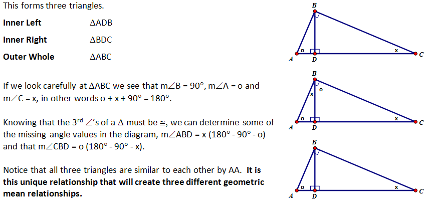 High School Geometry Common Core Gtb5 Geometric Mean