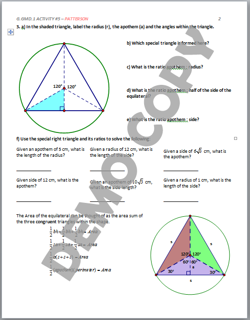 Circles worksheet 3 answers arc length