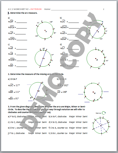 Printables of G C 2 Worksheet 1 Answers - Inspiracao Kids