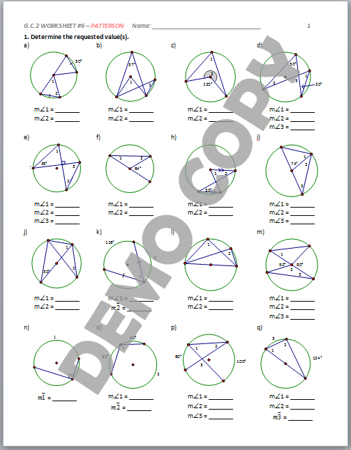 Arcs Central Angles And Inscribed Angles Worksheet Answers – Arcs and Angles Worksheet