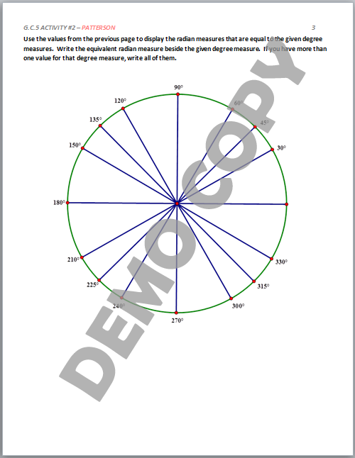 Arc Length and Radians