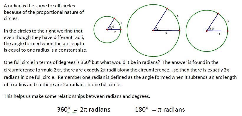 High School Geometry Common Core G C 5 - Radians, Arc Length